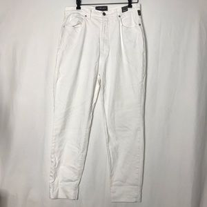VTG Versace Mom Stretchy White Straight Leg Jeans